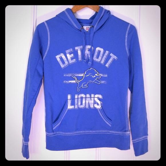 sale retailer 9dee7 a1152 NFL Team Apparel Detroit Lions Hoodie